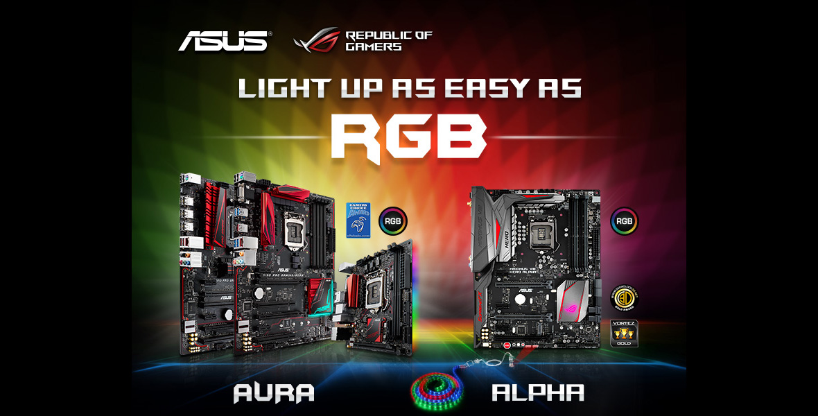 Asus Rog Rgb Aura Alpha Motherboards From Novatech