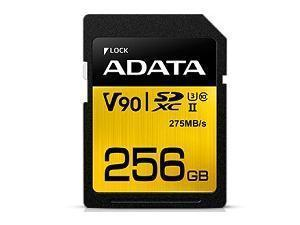 Image of ADATA Premier One 256GB SDXC UHS-II U3 Class 10 SD Card