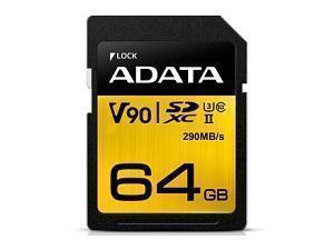 Image of ADATA Premier One 64GB SDXC UHS-II U3 Class 10 SD Card