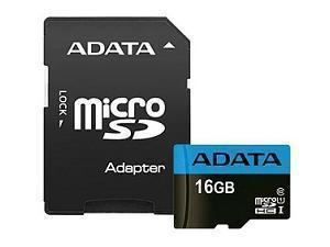 Image of ADATA 16GB SDHC/SDXC UHS-I Class 10 Memory Card with Adapter