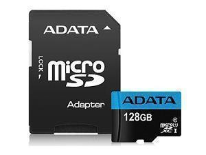 Image of ADATA 128GB SDHC/SDXC UHS-I Class 10 Memory Card with Adapter