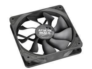 Image of Akaska Ultra Silent Apache Black 120mm Fan with S-Flow Blades