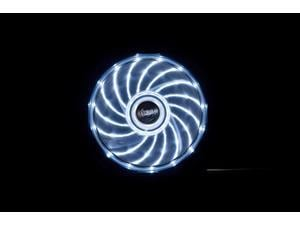 Image of 12cm Vegas 15 White LED fan with anti-vibe dampening pads
