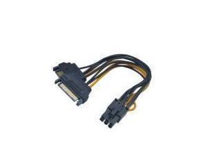 15cm Akasa SATA power to 6pin PCIe adapter cable