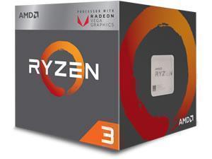 Image of AMD Ryzen 3 2200G Quad-Core Processor with Radeon Vega Graphics.