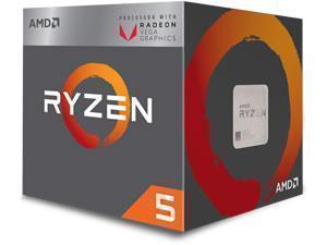 Image of AMD Ryzen 5 2400G Quad-Core Processor with Radeon RX Vega Graphics.