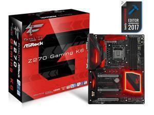 Asrock Z270 GAMING K6 Intel Z270 1151 ATX DDR4 XFireSLI VGA DVI HDMI Dual GB LAN RGB Illumination