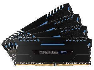 Corsair Vengeance LED Blue 32GB (4x8GB) DDR4 PC4-25600 3200MHz Dual Channel Kit