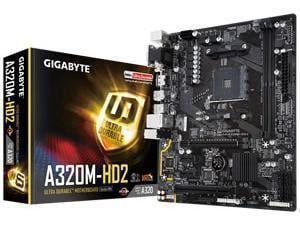 Compare retail prices of *B-stock item 90 days warranty*Gigabyte GA-A320M-HD2 (rev. 1.0) A320 AM4 Chipset Micro-ATX Motherboard to get the best deal online