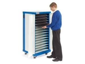 Image of Lapsafe ClassBuddy Mobile Storage & Charging Trolley For Up To 15 Laptops - With Data Transfer (Inc Fans)