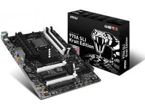 MSI 970A SLI Krait Edition AMD 970 (Socket AM3+) ATX Motherboard