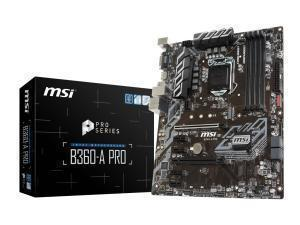 Compare retail prices of *B-stock item 90 days warranty*MSI B360-A Pro LGA1151 B360 ATX Motherboard to get the best deal online