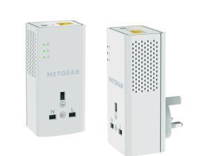 NETGEAR PLP1200100UKS 1200Mbps Powerline Ethernet Adapter homeplug pass throughextra outlet (1 Gigabit Ethernet port) – Twin Pack