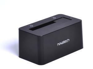 "Image of Novatech 2.5"" and 3.5"" SATA HDD/SSD Docking Station V2 - USB 3.0 - Black"