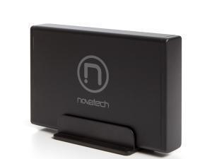 """Image of Novatech 3.5"""" SATA Hard Drive Enclosure V2 - USB 3.0 - Black"""