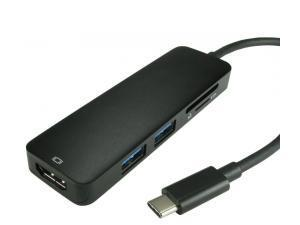 Image of Cables Direct USB C to HDMI 4K 30Hz + USB 3.0 + Card Reader