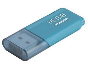 Toshiba 16GB USB 2.0 Flash Drive Aqua