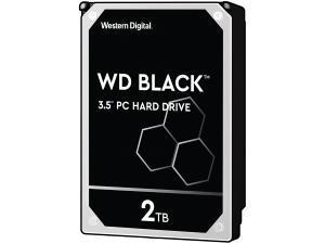 Image of WD Black 2TB 64MB Cache Hard Disk Drive SATA 6 Gb/s 164MB/s 7200rpm - OEM