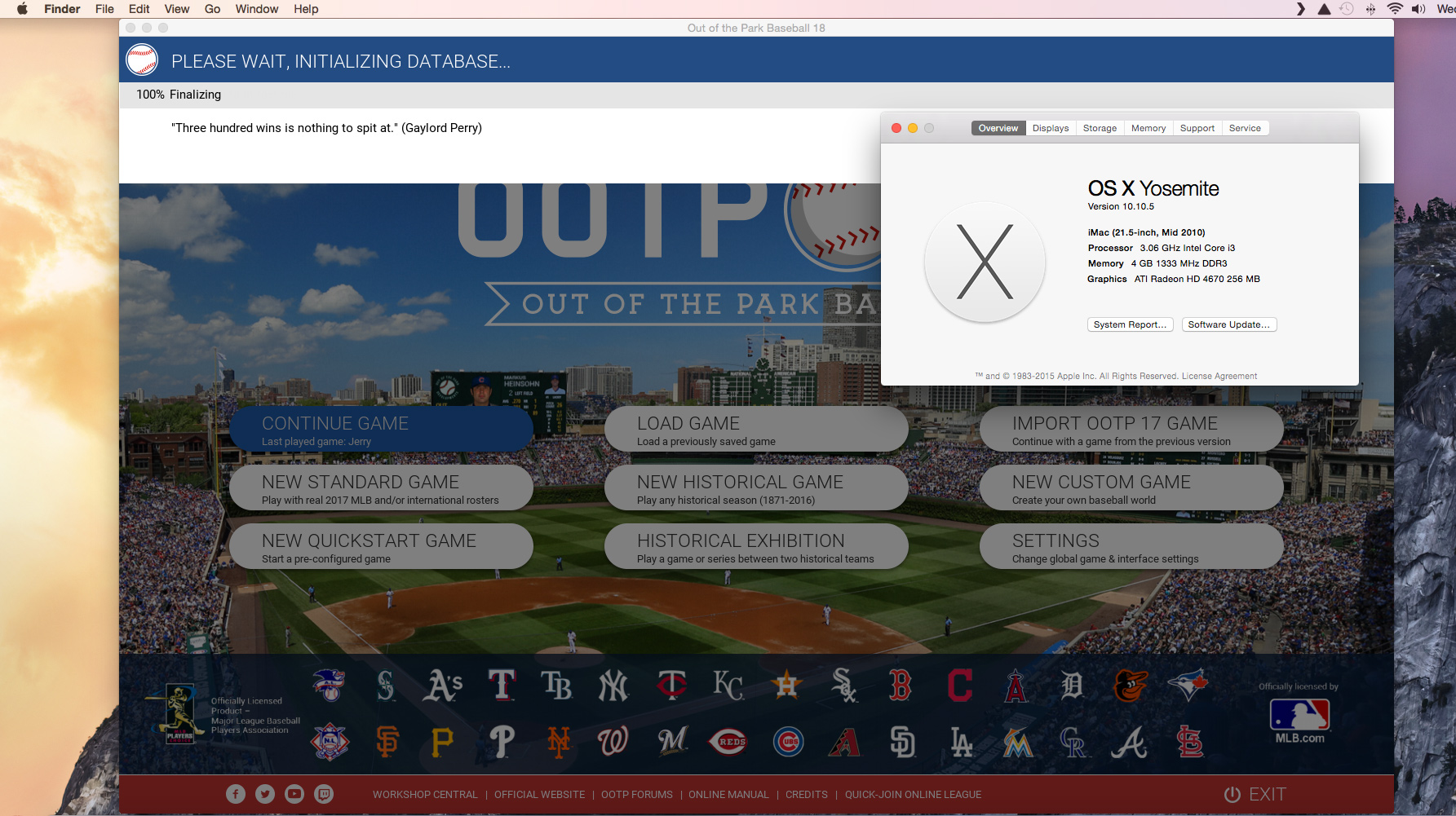 Computer Spec and OOTP