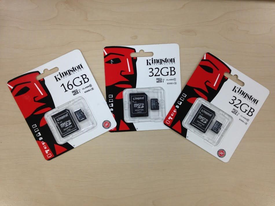 Kingston SD Cards 16GB and 32GB