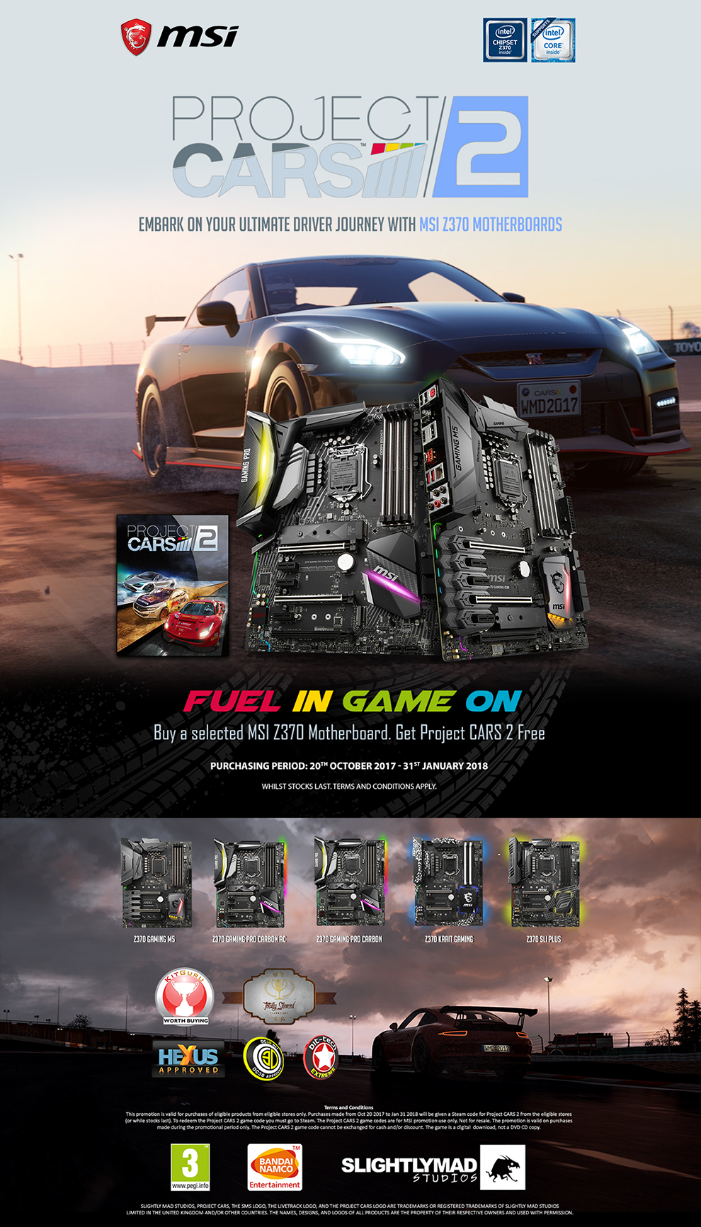 MSI Project Cars 2 Promotion at Novatech