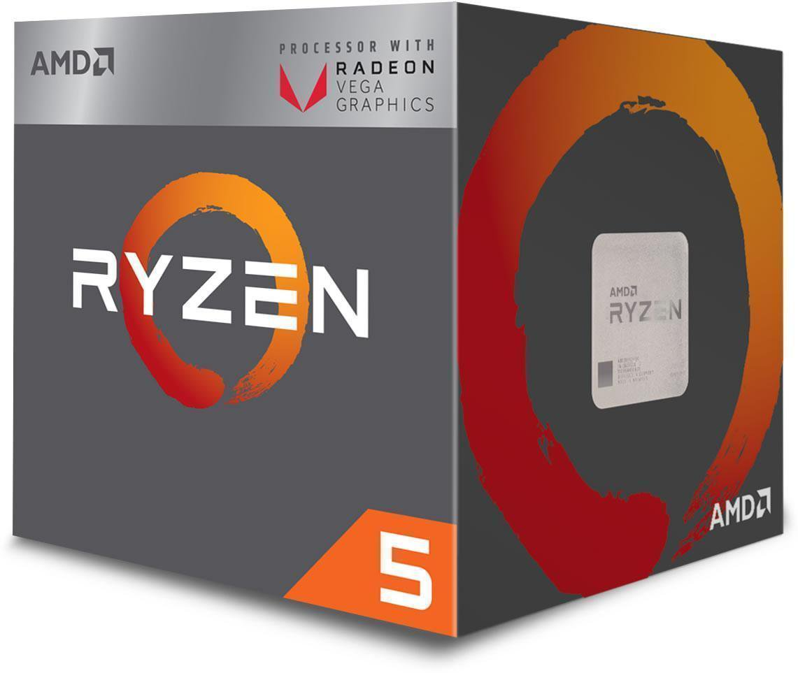 AMD Ryzen 5 2400G Quad-Core Processor with Radeon RX Vega Graphics