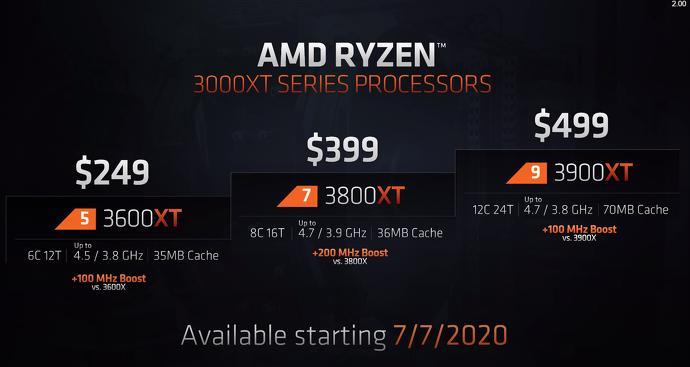 AMD 3000 Series Refresh, XT CPUs