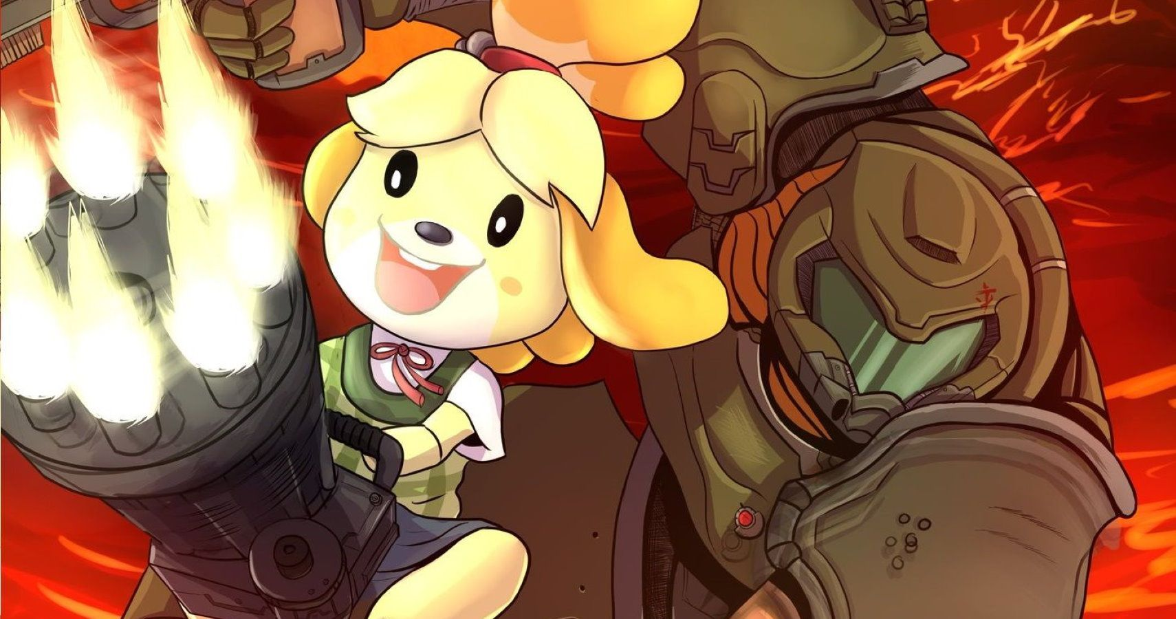 Animal Crossing meets Doom Eternal meme