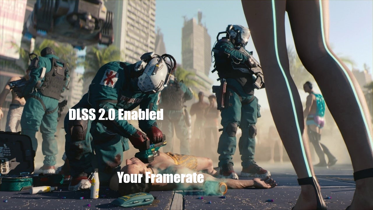 Cyberpunk 2077 with DLSS 2.0