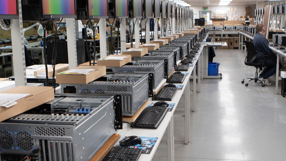 Rackmount GPU servers going through production