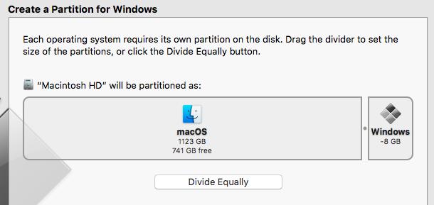 Mac OS - Windows partition