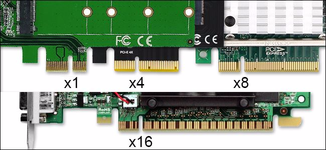 Add-in Card PCIe Slot Sizes