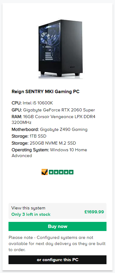 Reign Gaming PC