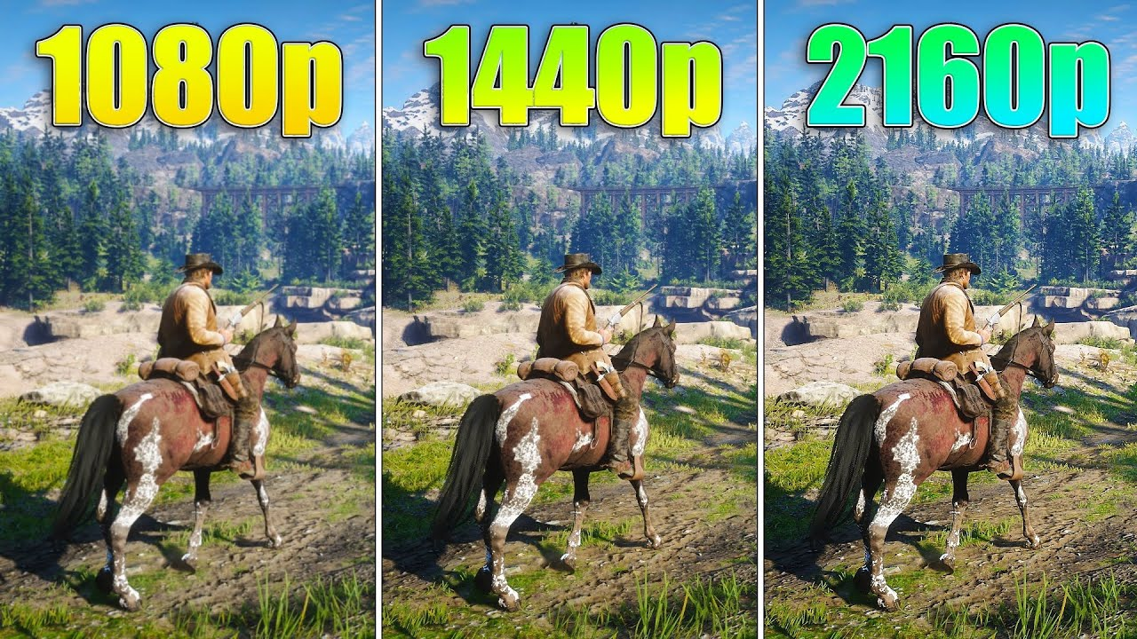 1080p, 1440p and 4K comparison