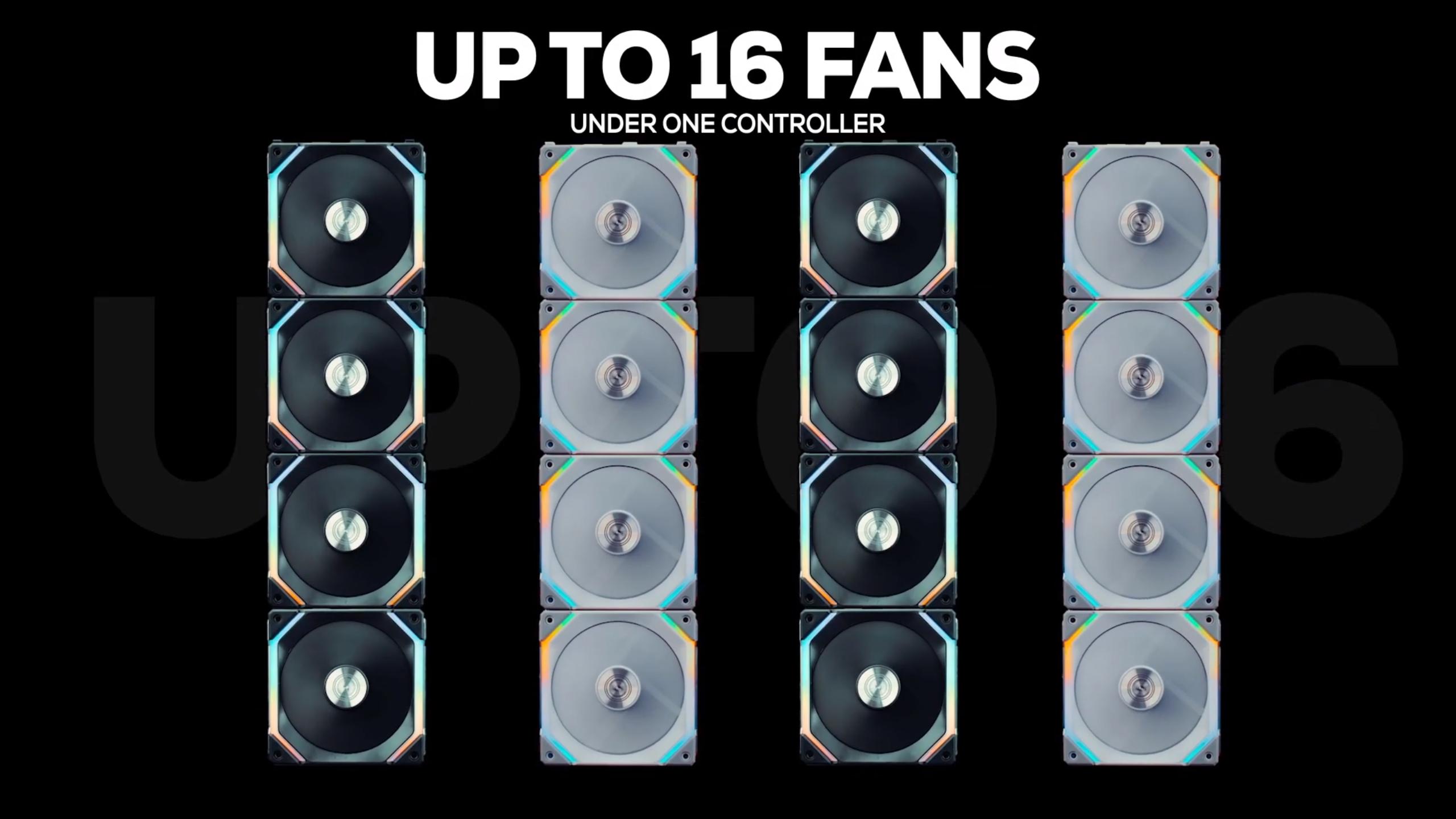 16 Lian Li Uni Fans