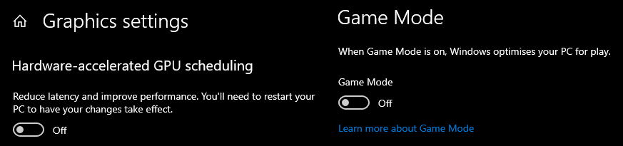 Optimising Windows 10 for gaming with Game Mode and Hardware Accelerated GPU Scheduling
