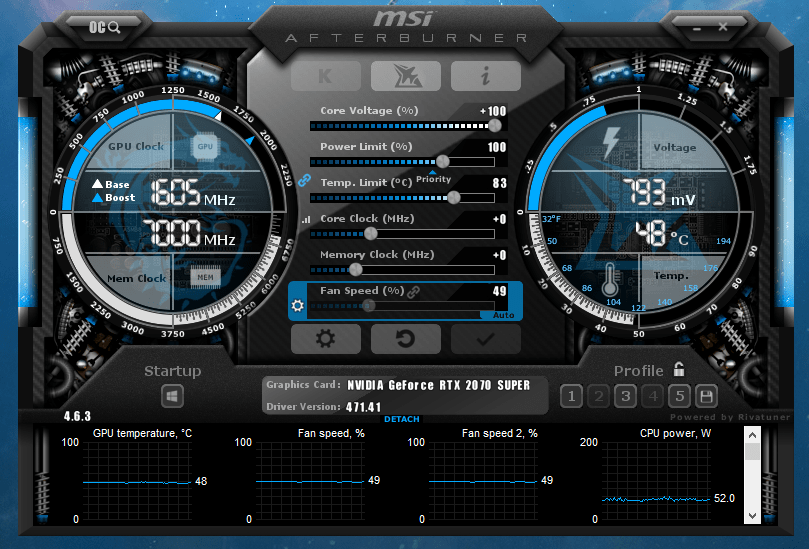 MSI Afterburner can be used to overclock a GPU to help increase a PC's gaming performance