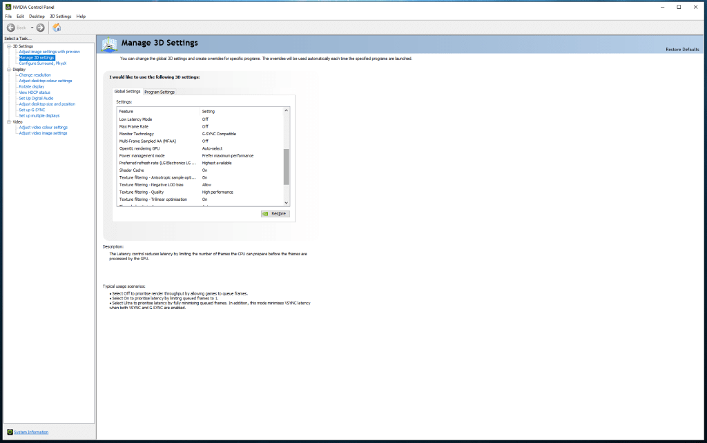 NVIDIA Power Management Mode can also help to improve a PC's gaming performance