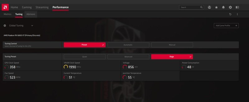 AMD Radeon's Rage Mode can help deliver additional FPS in games