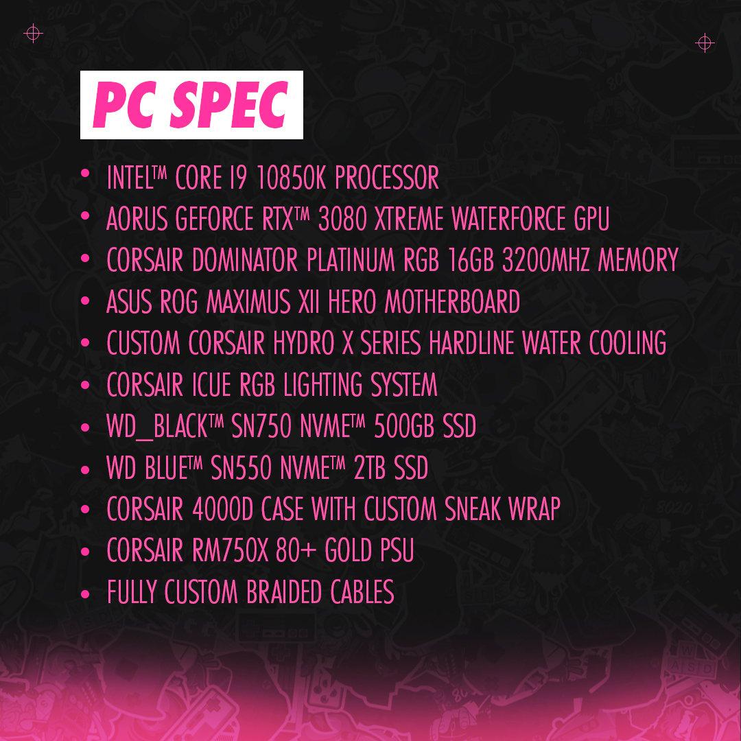 Reign x Sneak Custom PC Specs