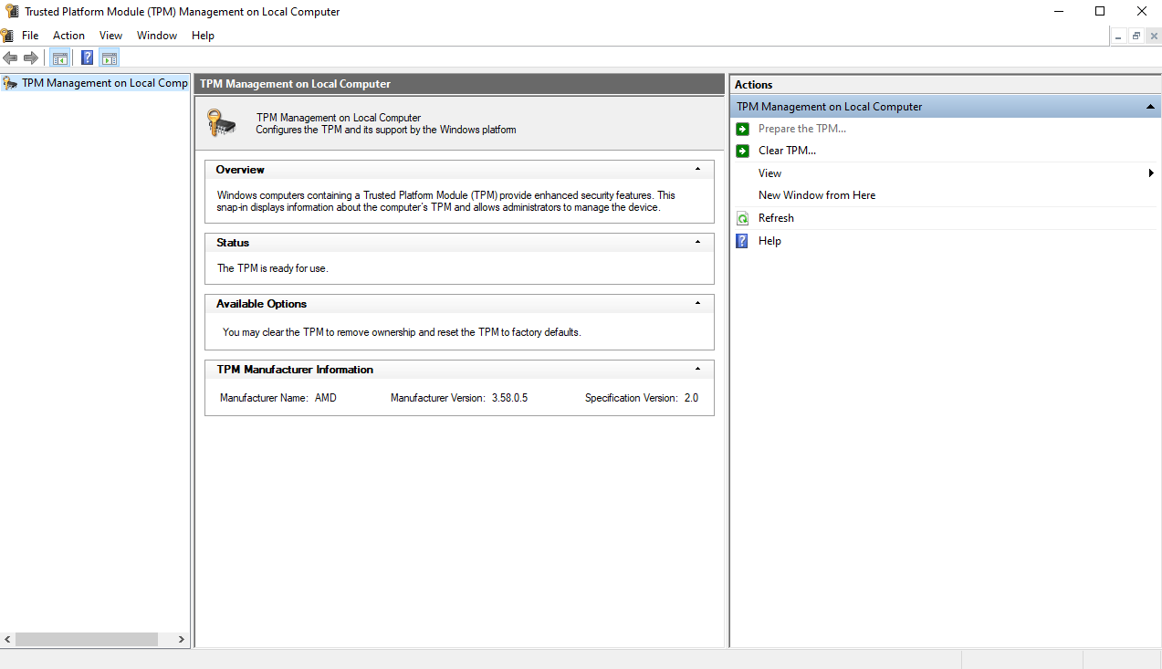 How to enable TPM 2.0