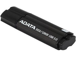 ADATA S102 Pro - 128GB USB3.1 Flash Drive - Titanium Grey