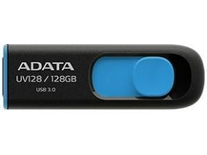 ADATA UV128 - 128GB USB 3.0 Retractable Flash Drive - Black/Blue