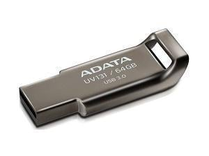 ADATA UV131 - 64GB USB 3.0 Capless Flash Drive - Grey