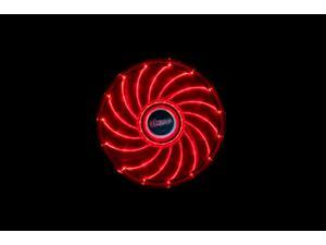12cm Vegas 15 Red LED fan with anti-vibe dampening pads, sleeve bearing