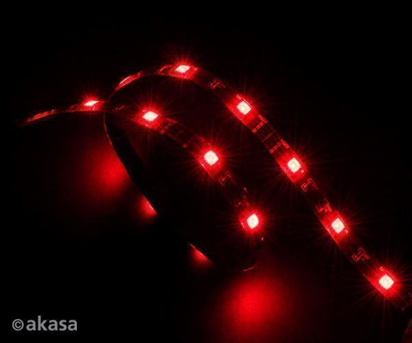 Akasa red led light strip 60cm 15 leds 4 pin molex connector akasa red led light strip 60cm 15 leds 4 pin molex connector mozeypictures Images