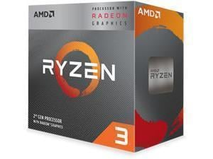 AMD Ryzen 3 3100 Quad-Core Processor/CPU, with Wraith Stealth Cooler.