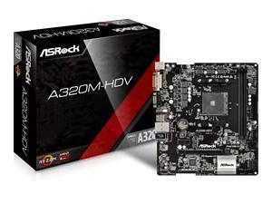 Asrock A320M-HDV AMD AM4 Micro-ATX Motherboard