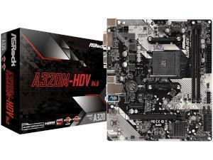 ASRock A320M-HDV R4.0 AMD A320 Chipset Socket AM4 Micro-ATX Motherboard