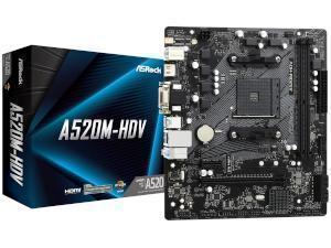 ASRock A520M-HDV AMD A520 Chipset Socket AM4 Micro-ATX Motherboard